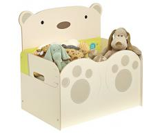Hello Home abrazo de oso baúl para juguetes, crema