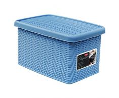 Stefanplast 2075888 Elegance Blue Sky Caja de Almacenamiento de plástico de 19 x 29 x 16 cm
