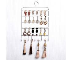 Chytaii Soporte de Exhibición de Joyería Estante de Joyería Soporte Joyas Estante de Pendiente Pulsera Collar Organizador de Pendientes Soporte Joyas Metal Montado en la Pared 27 * 36cm