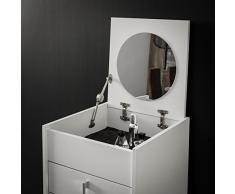 Miroytengo Mueble joyero Esmeralda con Espejo en Color Blanco tocador con cajones 43x123x50 cm