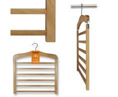 Hangerworld - Juego de perchas para pantalones (madera, para 6 pantalones)