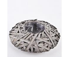 Deko – Cuenco de ratán 8 x 30 cm gris – Maceta