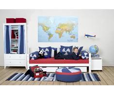 Hoppe Kids - Caja de Juguetes sobre Ruedas con Cierre, MDF, Madera, Color Blanco, 73 x 39 x 45 cm