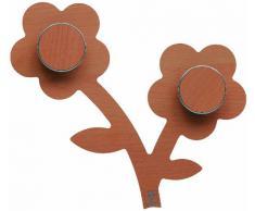 Foppapedretti Appendifiore - Perchero de pared, diseño de flores