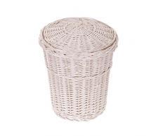 Cubo de la basura, cubo de mimbre, de la basura, colour blanco y de basura y cesta de mimbre con un diseño de la tapa, de la papelera