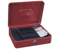 Rottner T02358 Traun - Caja de caudales con 4 compartimentos, color rojo