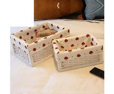 caja de almacenaje del hogar/ caja de almacenamiento de escritorio/Canasta baja/ canasta de mimbre-C