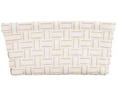 Wenko 20972100 Salsa - Cesta para accesorios de baño, diseño rectangular, color beige y blanco