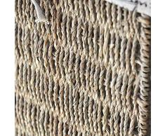 Canasta de almacenamiento Handmade rattan frame de metal caja de almacenaje plegable canasta de almacenamiento Estante cesta de ropa