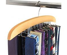 Hangerworld - Percha de madera para 20 corbatas