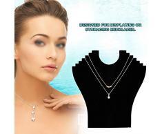 TMISHION Colgante para Collares Colgante Colgante Cadena Soporte Joyero Negro Collar Pulsera Exhibidores de Joyería Soportes de Suspensión