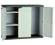 Plastiken M282965 - Armario de resina medio 3 puertas plastek 88 x 105 x 44 cm