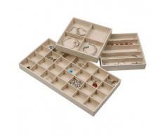 Stock tu hogar organizador de joyas bandejas apilable para multiusos uso como expositor para joyas, joyas de almacenamiento joyería soporte para pendientes, pulseras, collares & anillos – Juego de 3