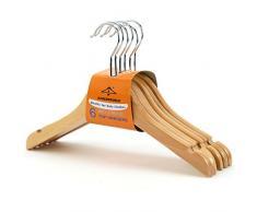 Juego de 30 perchas de madera para niños, con y sin pinzas. 30CM