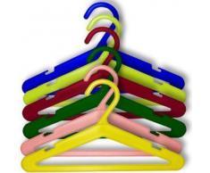 Hangerworld - Juego de 50 perchas de plástico para ropa infantil y de bebé (26 cm), varios colores