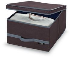 No Tejido Domopak Living la ropa caja de almacenaje, Plain marrón, tamaño grande