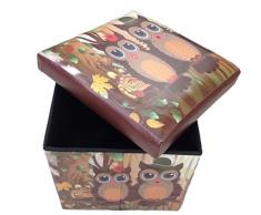 Taburete sokoke Original GMMH Box Caja de asiento con forma de cubo plegable banco baúl reposapiés para guitarristas