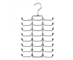 Zeller 17147 Percha para Corbatas/Cinturones, Metal, Plateado, 21x40x3 cm