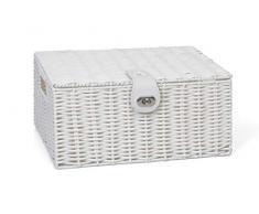 Resina Arpan tamaño mediano para almacenaje cesta caja de almacenaje con tapa y candado - blanco