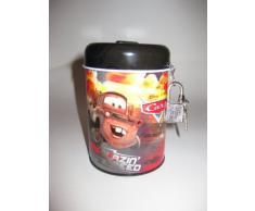 Diseño de Cars de Disney de metal con forma de cerdo is Hucha 11 cm con candado