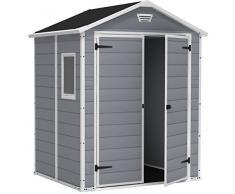 Keter M292427 - Caseta resina exterior manor 6x5dd gris