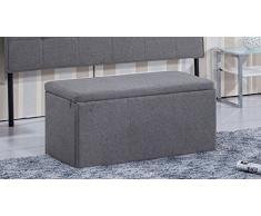 Baul universal tapizado en elegance gris ceniza, medidas 90 x 40 x 40 cm