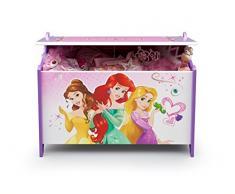 Caja de juguetes de madera de princesas Disney (rosa)