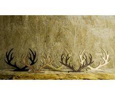 Soporte para joyas de madera ciervo cuernos. Disponible en diferentes colores, madera, negro, large