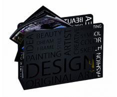 Haku Möbel 44595 Revistero Metal Negro 10 x 35 x 26 cm