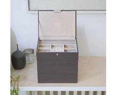 Stackers classic size |organizador de la joyería conjunto de 5 cajas, visón y forro de terciopelo gris