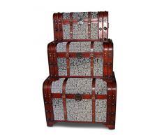 clatin 25505 Juego de madera Baúles 3 piezas Diseño Noble Letters