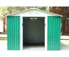 Caseta Cobertizo de Metal verde para Jardin Space Verde