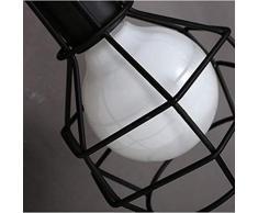 Lámpara de pared creativa nórdica estilo cesta de metal efecto jaula increíble lámpara de pared de diseño retro