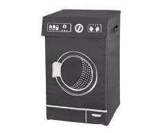 Wenko 3450126100 Lavo - Cubo de lavandería de poliéster (77 L, 36 x 60 x 36 cm, con asas), color gris