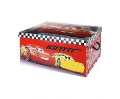 Caja aLmacenaje infantil de carton modelo cars