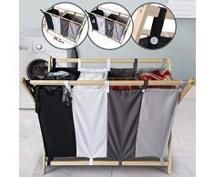 Nova - Cesto para la ropa sucia con 4 compartimentos