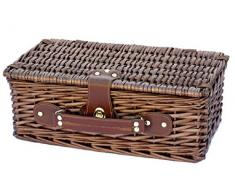 Cesta de picnic para cuatro personas VICHY. Cesta de picnic, canasto de picnic de mimbre, regalo original, cesta de picnic para cuatro comensales.Regalo para los amantes de la naturaleza. Regalo para mujer. Regalo para hombre.