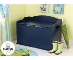 KidKraft 14959 Baúl infantil de juguetes de madera Austin - azul purpúreo