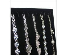 Soporte de cadena reloj soporte soporte para joyas pulsera soporte de terciopelo con 11 Ganchos