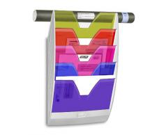 CEP - Revistero de pared (5 compartimentos), blanco y multicolor
