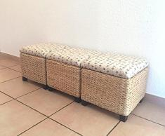 Taburete, con espacio de almacenamiento, arcón, escabel, con patas, 30 x 30 x 30 cm