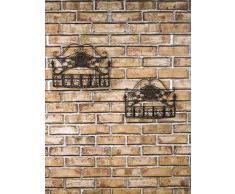 Pareja pared de la canasta estante de la pared del estante de jardín de hierro