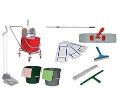 Aura superior individual fácil carro wischset carrito de limpieza, cubo de fregona, trolley carros acción.!