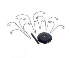 PIXNOR Organizador del sostenedor pendiente joyas Stand - en forma de árbol (negro)