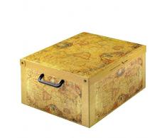 Caja de almacenamiento práctico y decorativo con la tapa y el patrón mango mundo