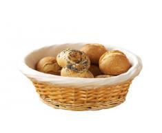 Premier Housewares - Cesta para pan o panera con forro ajustable de algodón, (10 x 25 x 25 cm) mimbre