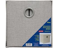 Caja de ordenación plegable con tapa, color gris (26x26x26 cm S)
