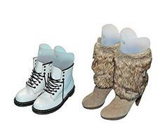 """Multifunción plástico botas de caña alta zapatos largo muslo apoyo soporte Hanger Holder multi-size regla corto Tall Boot Shaper inserciones de árbol para mujer Lady niñas, transparente, 18"""" height"""