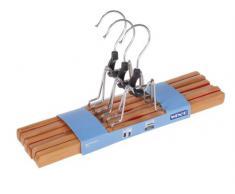 Wenko 17219006100 Premium - Percha de pinza, fabricada en madera (3 unidades, 30 cm)