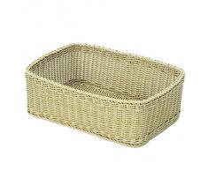 Saleen 02017530101 cesta rectangular para, Aproximadamente 45 x 33 x 16 cm recto laterales, beige claro